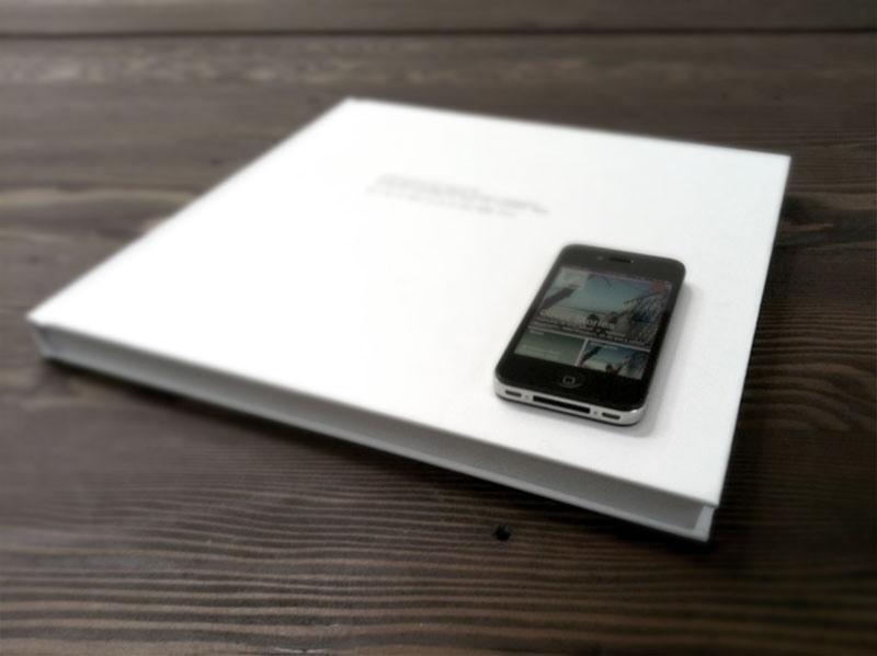 iPhone on top of a book